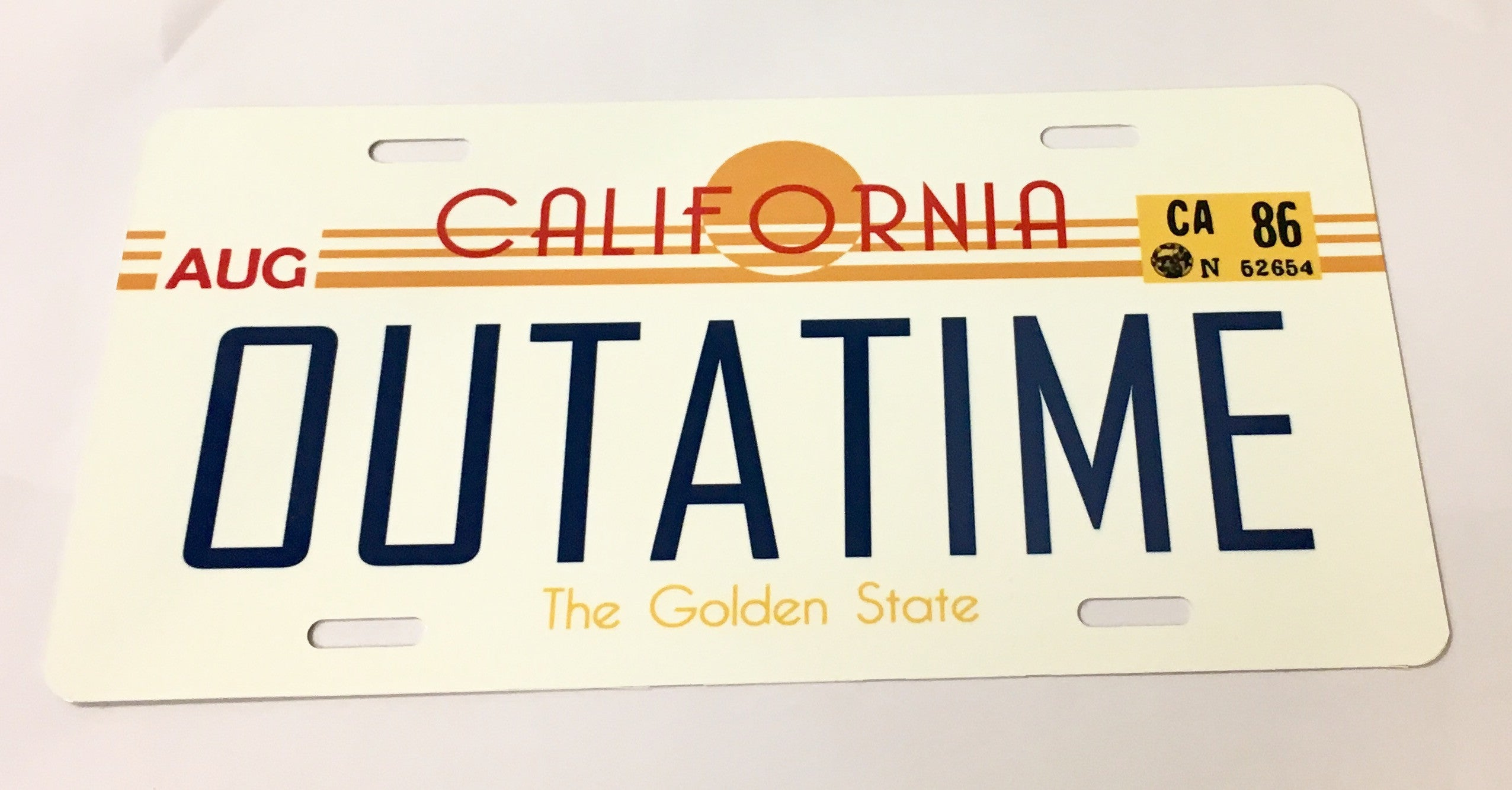 OUTATIME Back To The Future License Plate