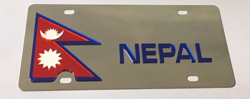 Nepal Stainless Steel License Plate