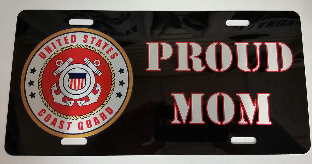 U.S. Coast Guard Proud Mom License Plate