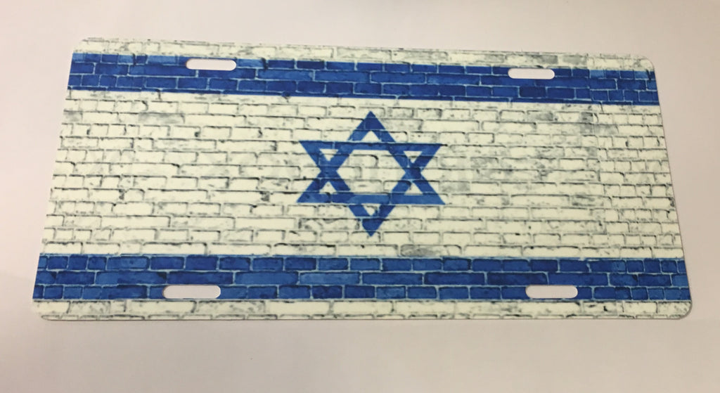 Israel Flag License Plate
