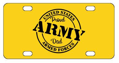 Proud Army Dad License Plate