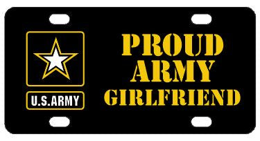 Proud Army Girlfriend License Plate
