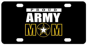 Proud Army Mom License Plate