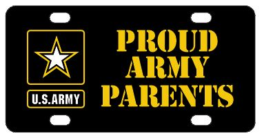 Proud Army Parents License Plate
