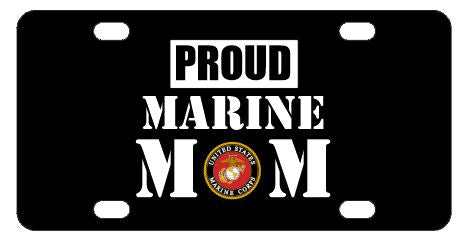 Proud Marine Mom License Plate