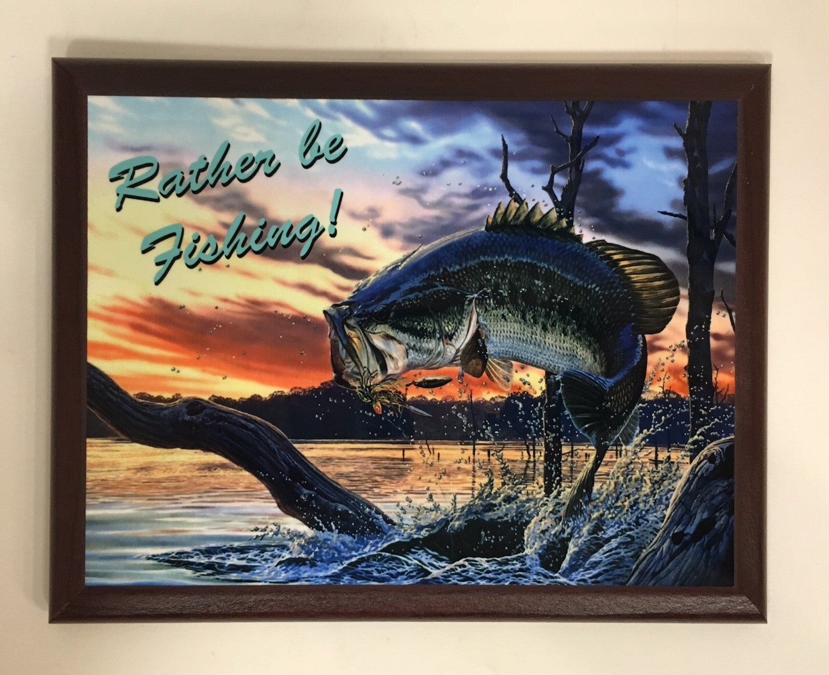 Rather Be Fishing Plaque