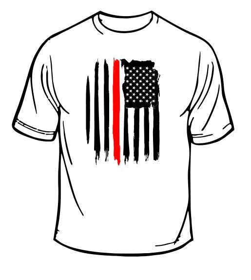 Fire Department Firefighter Flag T-Shirt