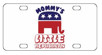 Mommy's Little Republican License Plate