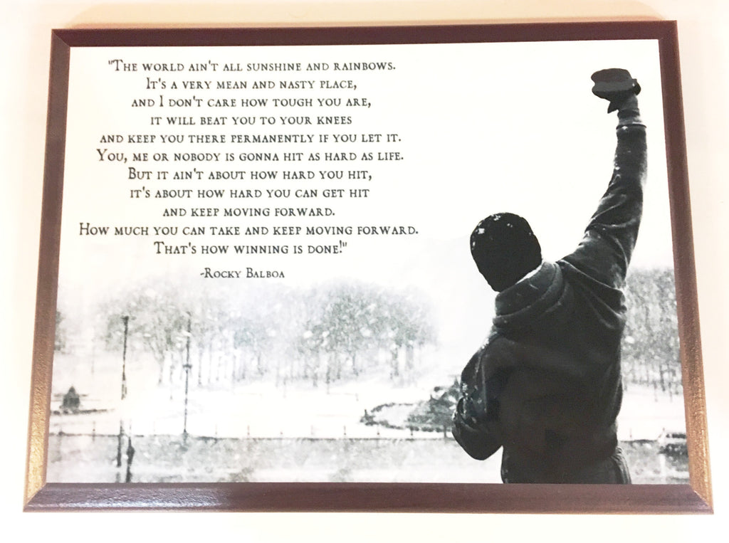 Rocky Balboa Quote Plaque