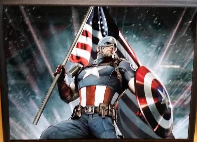 Captain America Plaque