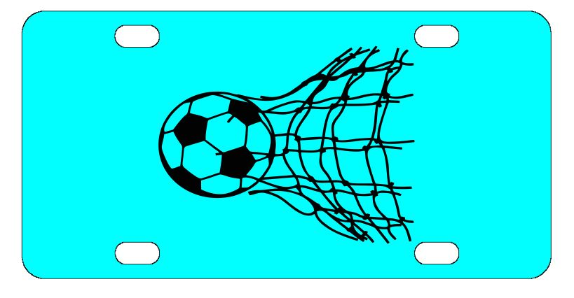 Soccer Ball Sports License Plate