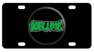 Sublime Logo License Plate