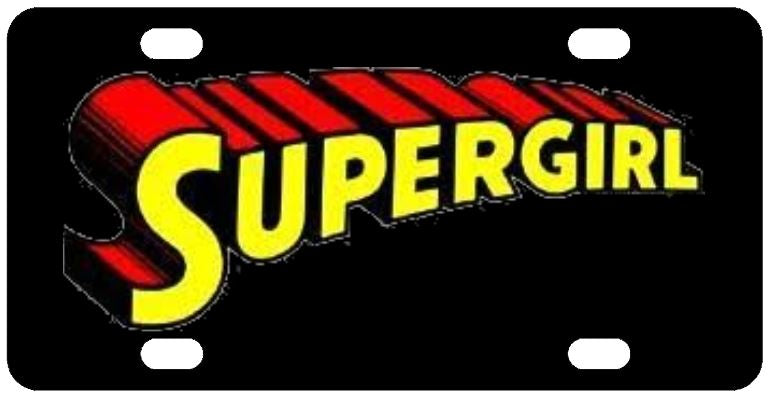 Supergirl License Plate