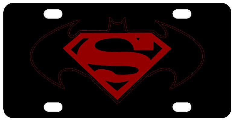 Batman Superman License Plate