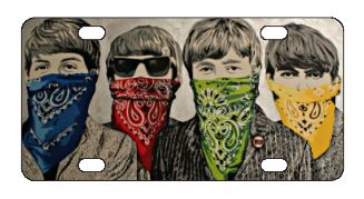 The Beatles Bandanas License Plate