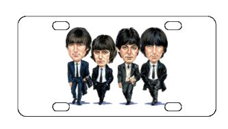 The Beatles Caracters License Plate