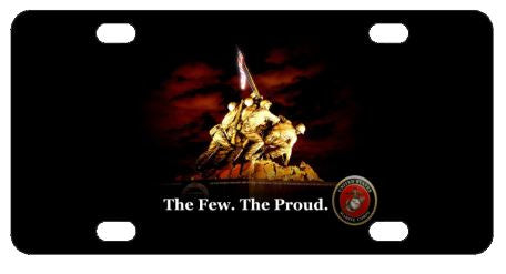 Marines USMC Iwo Jima License Plate