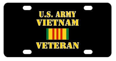 Army Vietnam Veteran License Plate