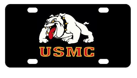 Marines Bulldog USMC License Plate