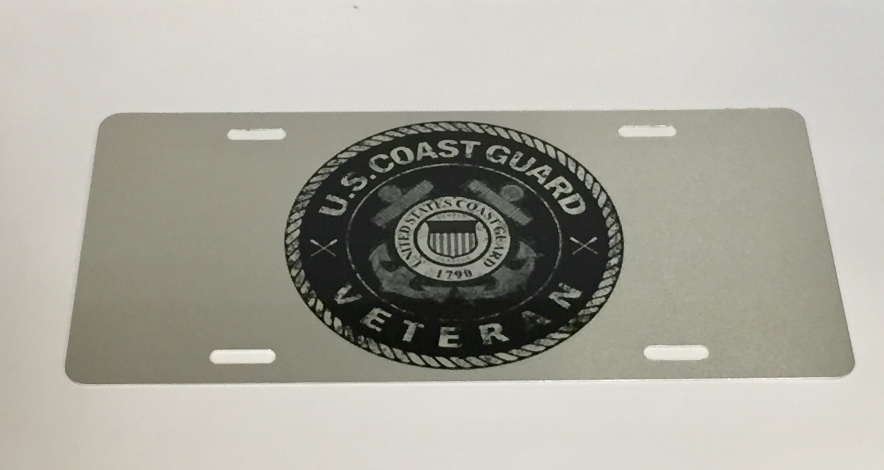 Coast Guard Veteran License Plate