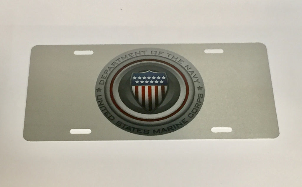 Department of the Navy Silver License Plate