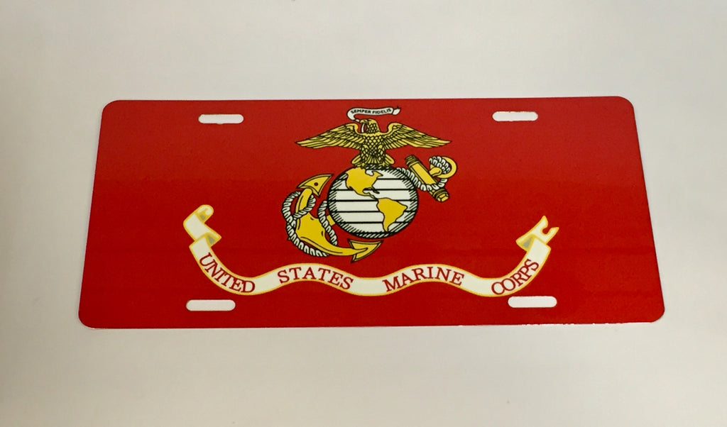 United States Marine Corps License Plate
