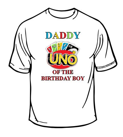 Uno Daddy Of The Birthday Boy T-shirt