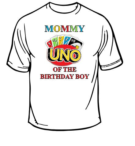 Uno Mommy Of The Birthday Boy T-shirt