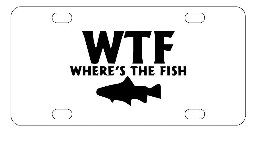 Where The Fish License Plate