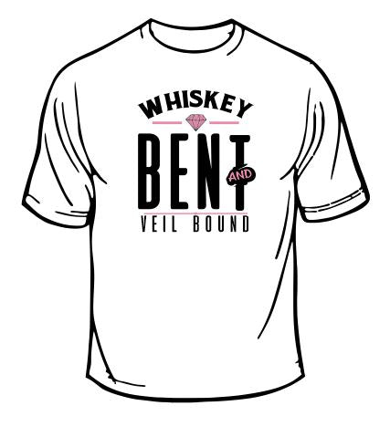 Whiskey Bent And Veil Bound Wedding T-Shirt