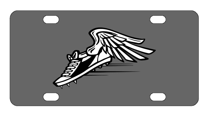 Winged Cleats Sports License Plate