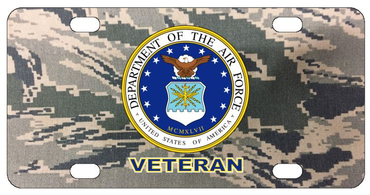 Air Force Veteran License Plate