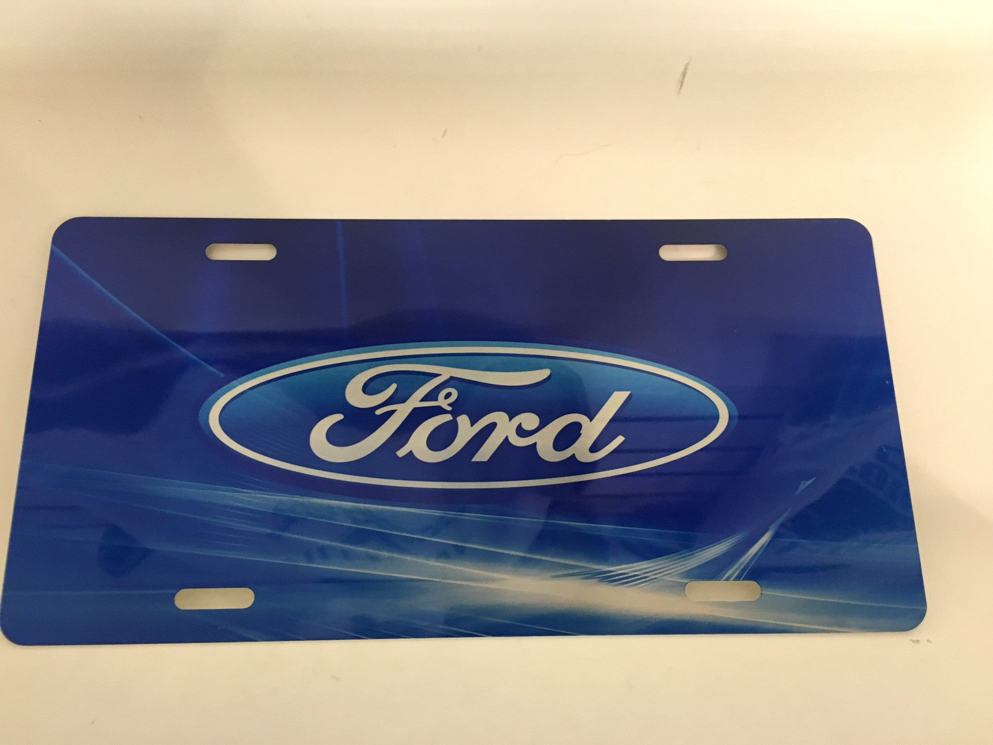 Ford Custom Blue Design License Plate