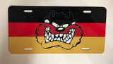 German Flag- Tazmanian Devil License Plate