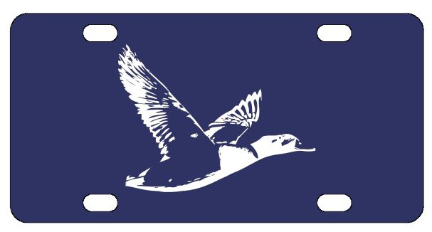 Duck Hunting License Plate