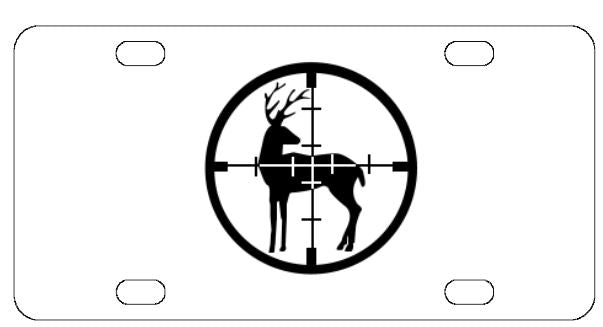 Deer Hunting License Plate