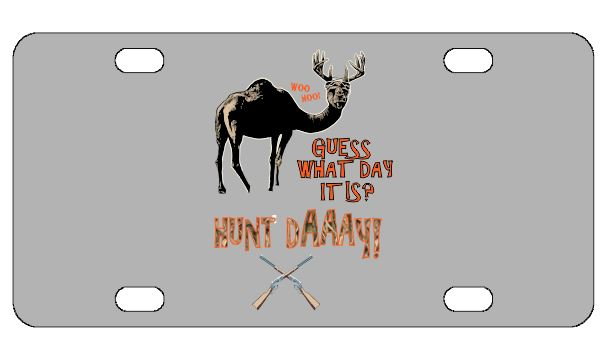 Hunt Day License Plate