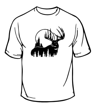 Deer Moon Hunting T-Shirt