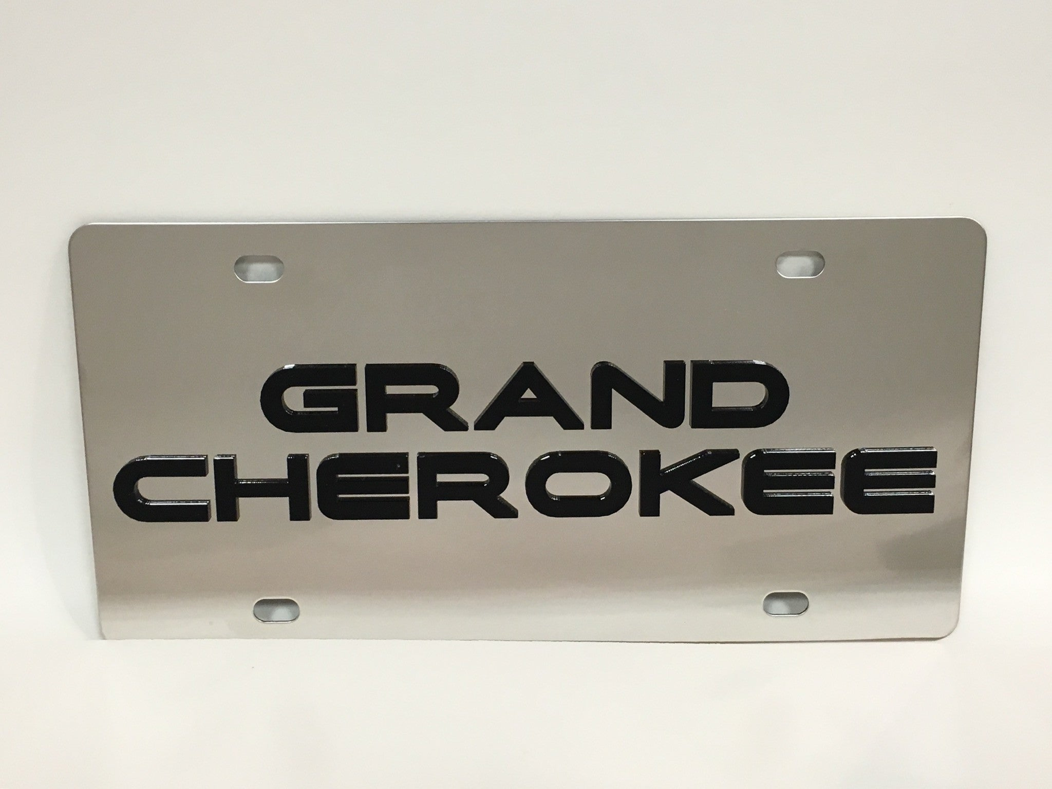 Jeep Grand Cherokee Stainless Steel License Plate