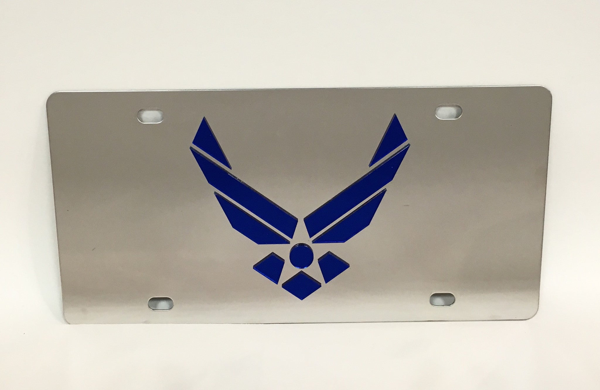 U.S. Air Force Logo Stainless Steel License Plate