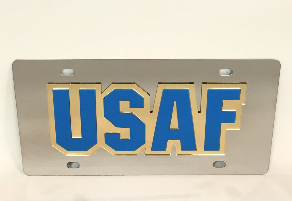 U.S. Air Force USAF Stainless Steel License Plate
