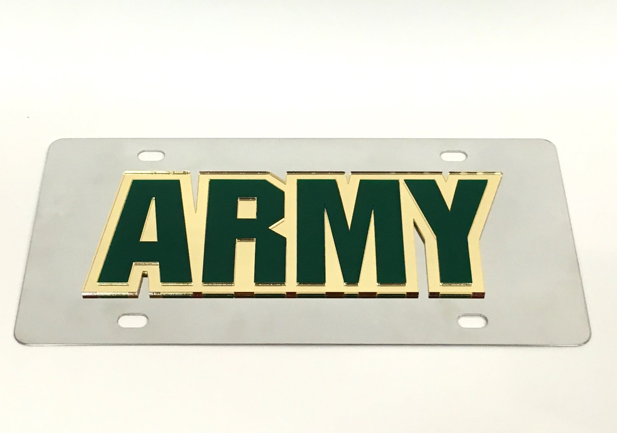 U.S. Army Stainless Steel License Plate