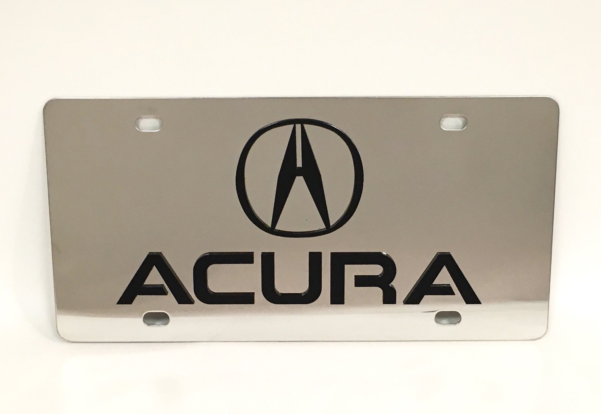 Acura Logo Stainless Steel License Plate