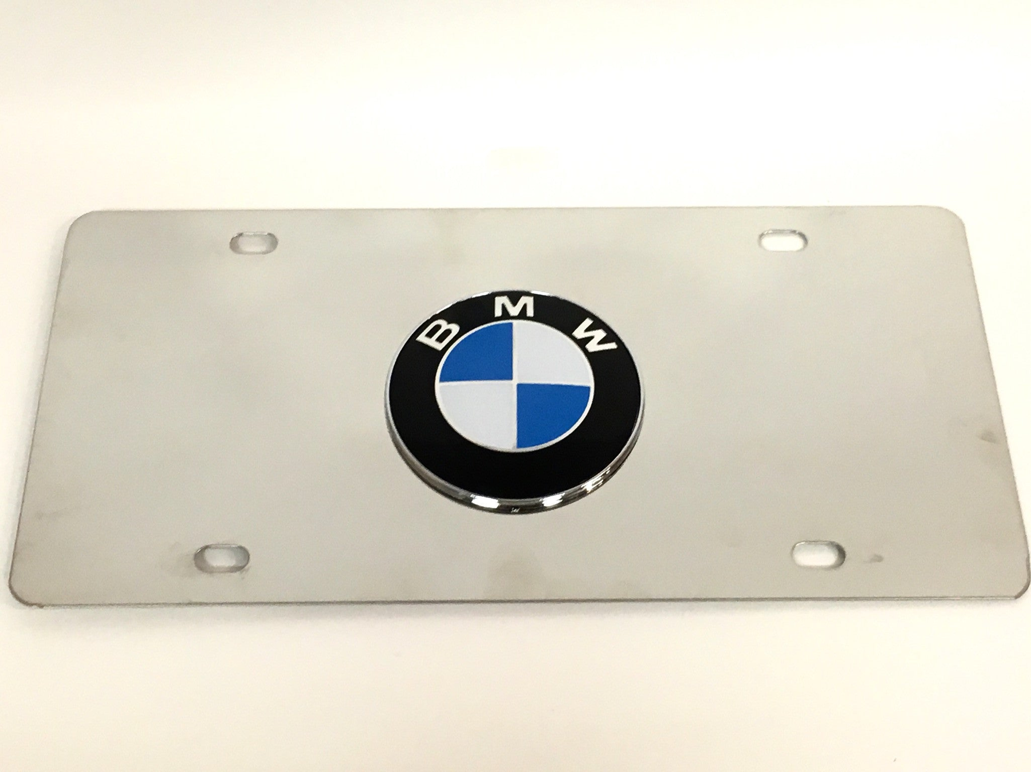 BMW Official Emblem Stainless Steel License Plate