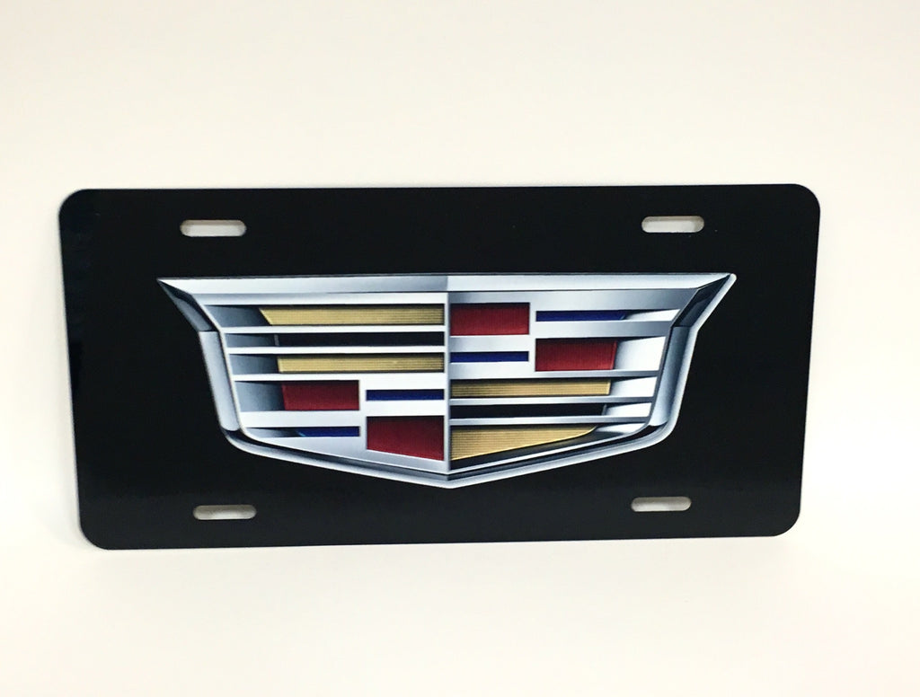Cadillac Logo Black License Plate