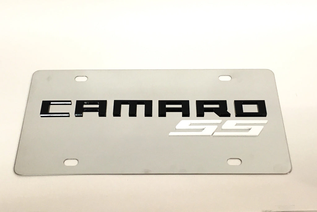 Chevy Camaro SS Stainless Steel License Plate