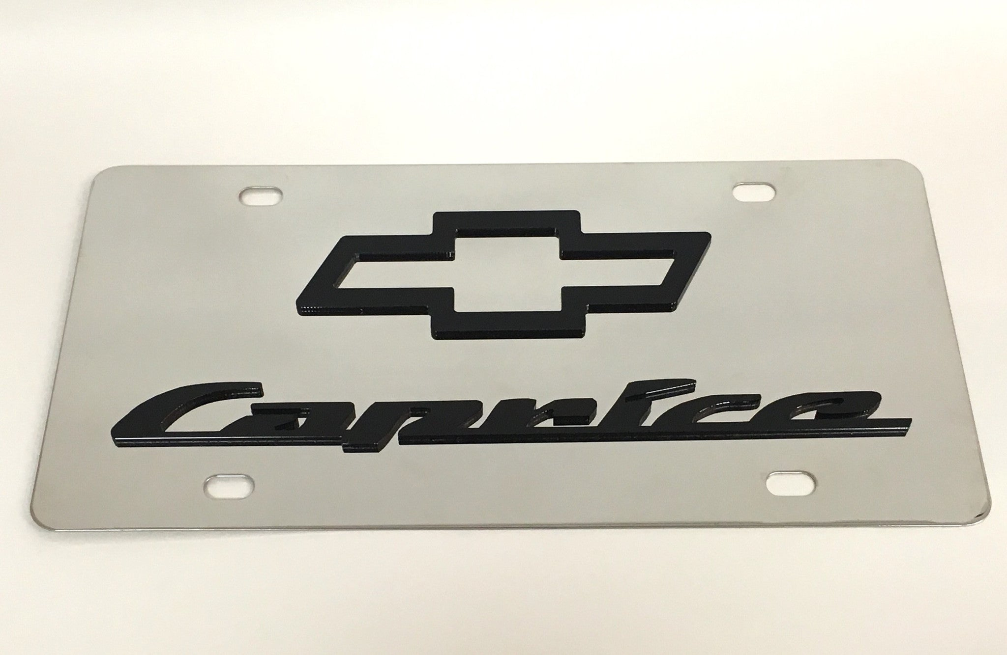 Chevy Caprice Stainless Steel License Plate
