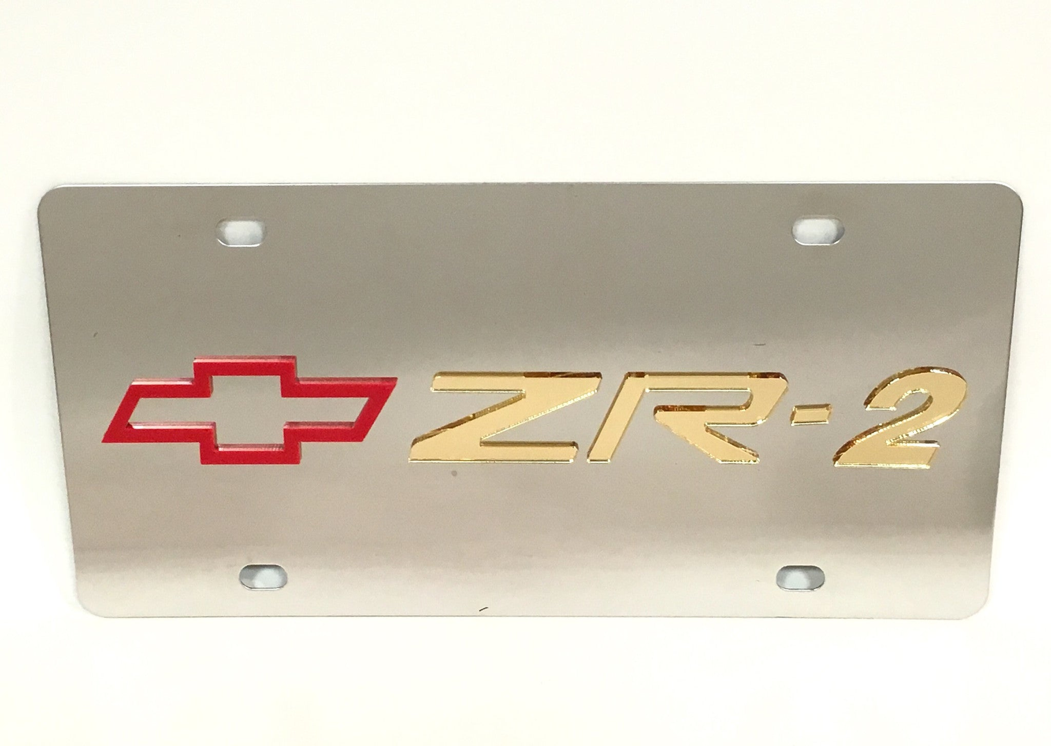 Chevy ZR-2 Stainless Steel License Plate