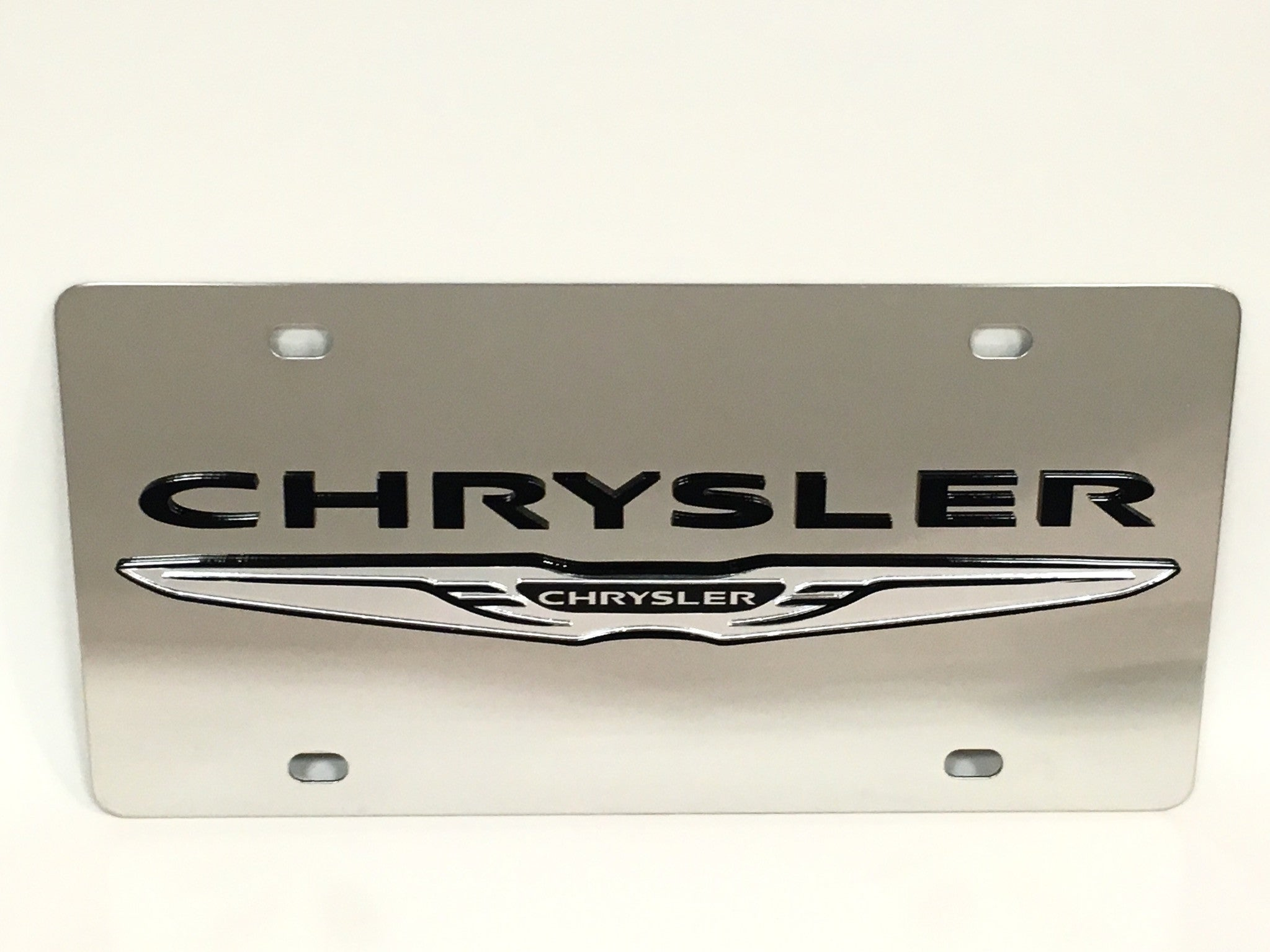 Chrysler Logo Stainless Steel License Plate