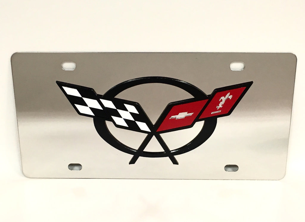 Chevy Corvette C5 Stainless Steel License Plate
